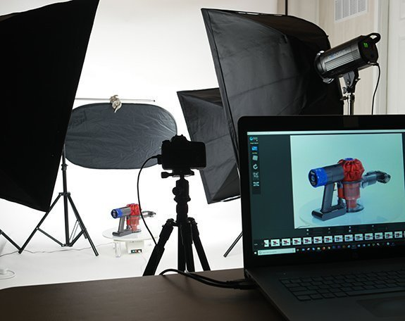360 Products Photography: Handheld Vacuum Example