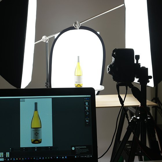 360 spin photography: Wine Bottle Example