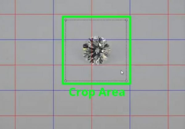 360 Diamond Photography: Crop area