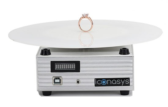 360 Jewelry Photography Turntable Larger Platform