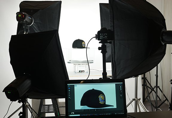 360 product photography example: Ball Cap