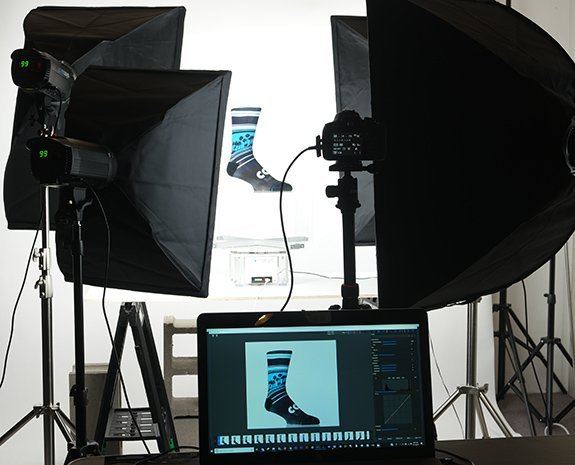 360 product photography sock example