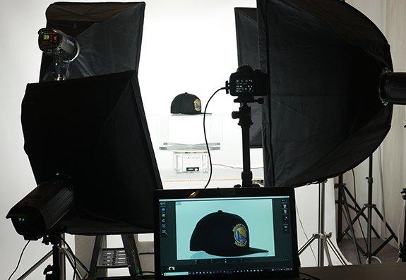 360 product photography studio: Ball Cap Example