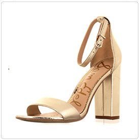 360 Shoe photography example: Gold Heel