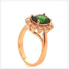 360 Spin Jewelry Photography: Green Stone Ring