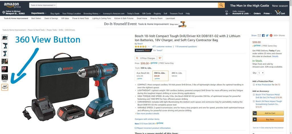 360 Product Photography in Amazon Product Listings 01
