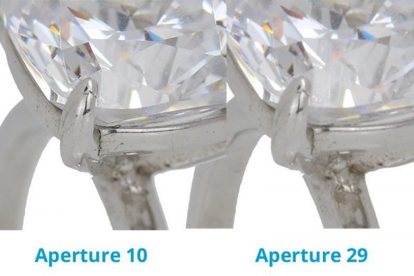 Focus Stacking in Jewelry Photography: Lens Diffraction