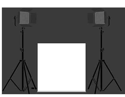 Medium LumiPad 360 Product Photography Lighting Kit - Illustration