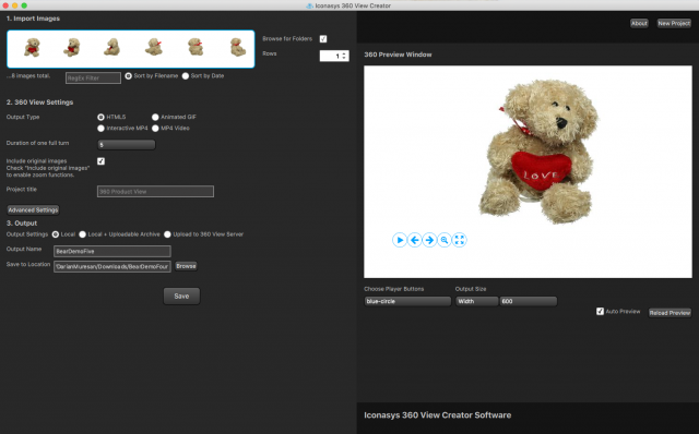 Iconasys 360 Product View Creator: Technologies Used 2