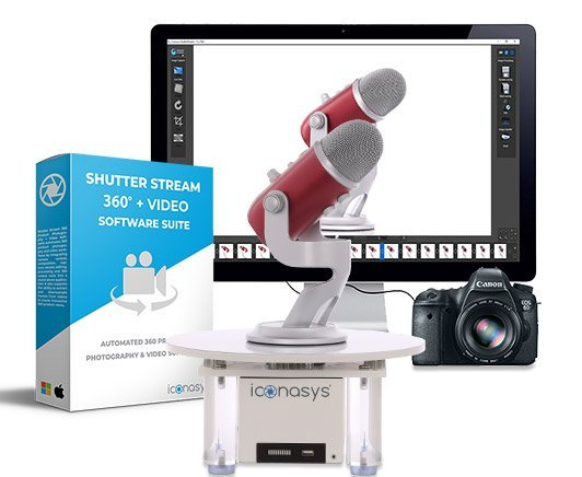 Silver Series MID 360 Product Photography Turntable & Software