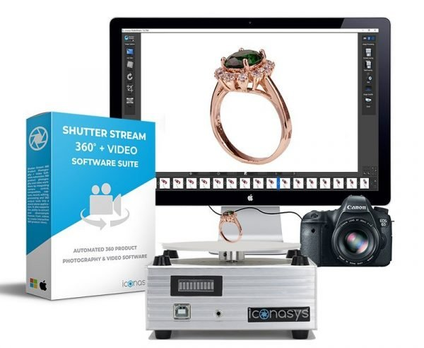 Software automated 360 jewelry photography turntable