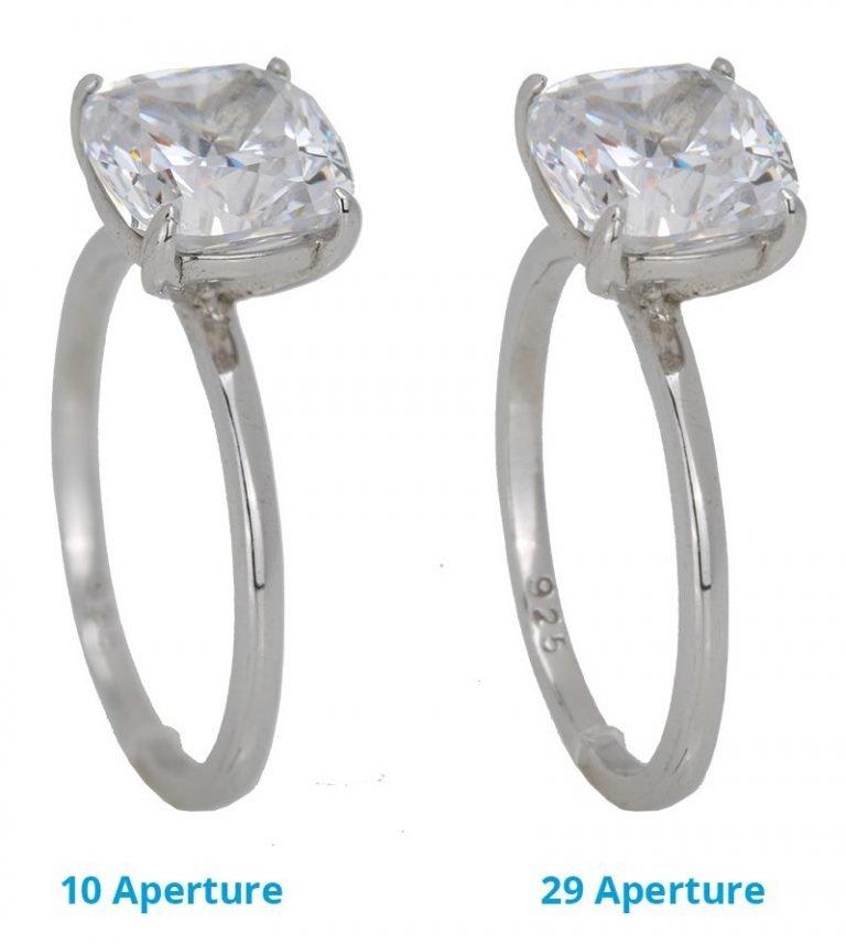 Jewelry Photography: Aperture Comparison