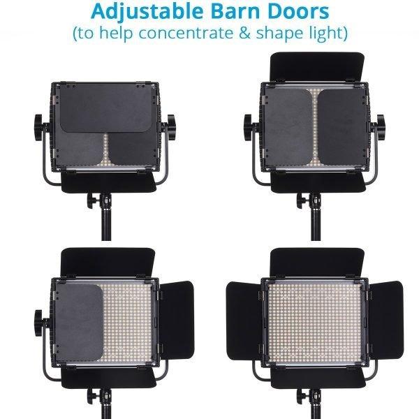 Large LumiPad 360 Product Photography Lighting System - Barn Door