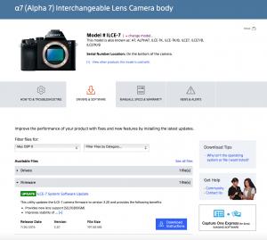 Sony camera firmware update 02