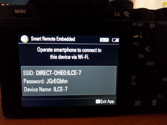 Sony Wireless SDK Camera Settings: 03
