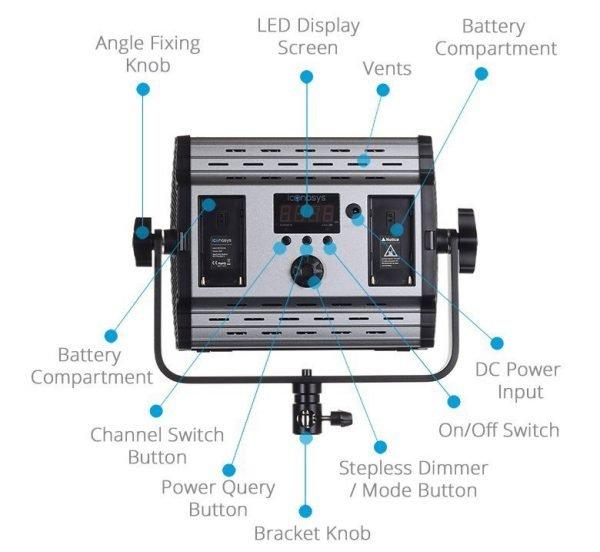 Spectro 600 Pro LED Panel Light 01